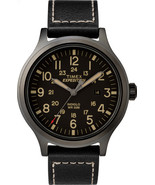 Timex Men's Expedition Scout 43mm Leather Strap |Black| Watch TW4B11400 - $51.13