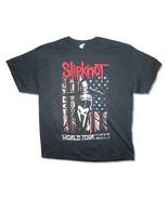 Slipknot-Skeleton-Skeleton Flag-WorldTour 2015-Black T-shirt - $16.19