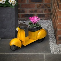 Vintage Retro Moped Übertopf Garten Topf Figur Vespa Roller Lambretta NP6 - $34.35 CAD