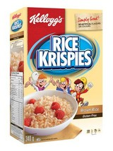 Kellogg's Rice Krispies Brown Rice Gluten Free Cereal 4 boxes 340g each - $69.99
