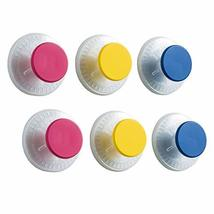 LEVERLOC Suction Cup Hooks Pack of 6 Dot-Shaped No Drilling & Removable 1 Second image 2
