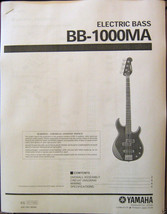Yamaha BB-1000 MA Electric Bass Guitar Service Manual and Parts List Boo... - $9.89