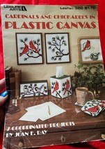 leisure arts cardinals & chickadees in plastic canvas leaflet 360 - $4.99