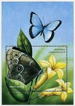 CENTRAL AFRICA 2001 African BUTTERFLIES  S/S SC#1401 ** MNH CV$7.00 INSECTS - $1.44