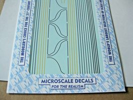 Microscale Decals #87-561 Chicago & North Western E & F-Unit Diesel Striping image 3