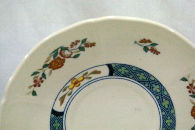 Wedgwood 1988 Chinese Teal Cup And Saucer Set