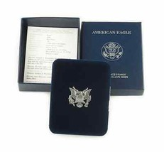 2006-W Américain Argent Eagle Épreuve en Boîte Originale W / Coa image 2