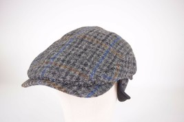 Wigens NWT Harris Tweed Wool Cap Earflaps in Multicolored Plaid Sz 59, 7... - $119.99