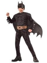 NEW Batman Halloween Costume Boys Medium 8-10 Padded Muscles Dark Knight DC - €21,85 EUR
