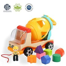 TOP BRIGHT Wooden Shape Sorter Toys for Toddlers Learning Sort and Match for 1 2 image 1