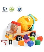 TOP BRIGHT Wooden Shape Sorter Toys for Toddlers Learning Sort and Match for 1 2 - £25.17 GBP