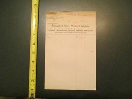 Schmidt & Stork Wagon Company West Bend Wisconsin 1919 invoice Letterhea... - $10.99