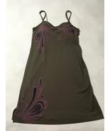 Athleta XS Brown Paisley Swirl Mini Dress Stretch Built In Underwire Bra - $19.99