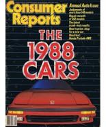 ORIGINAL Vintage 1988 Consumer Reports Magazine Cars Issue - $14.84