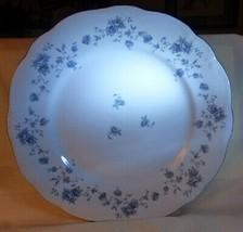 "Johann Haviland Blue Garland 10"" Dinner Plate Platinum Trim Made in Thai... - $10.00"