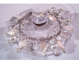 Bracelet white pearls clear crystal beads mother pearl  2  thumb155 crop