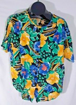 Rhapsody Womens Floral Casual Shirt Size 18, XL Made in USA G - $18.99