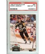 mario lemieux  penguins 1992 stadium club psa 10 topps - $24.99