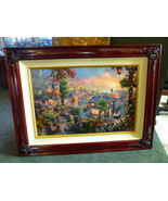 THOMAS KINKADE LADY AND THE TRAMP Canvas G/P 18 X 27 Remarqued - $1,160.00
