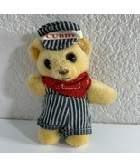"Cublettes Cubby Bear Mini Plush 6"" Train Conductor Hat Overalls Bandanna - $24.75"