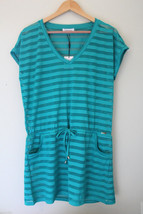 NWT Calvin Klein Ocean Blue S. Sleeve Crochet Knit Swim Cover Up Dress S... - $28.80