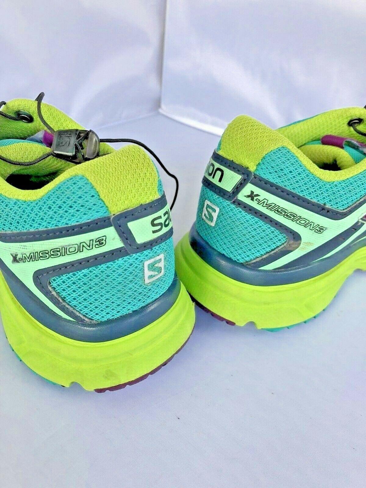 Salomon X Mission 3 Hiking Shoes Size 8 Breathable Running Contagrip Sensifit image 6