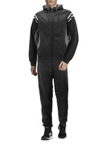 Men's Hooded Working Out Running Gym Fitness Casual Jogging Tracksuit 2 Pcs Set image 2