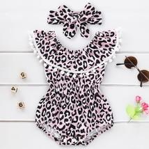 Summer Infant Baby Girls Leopard Ruffles Tassel Romper Swimwear Swimsuit... - $13.20