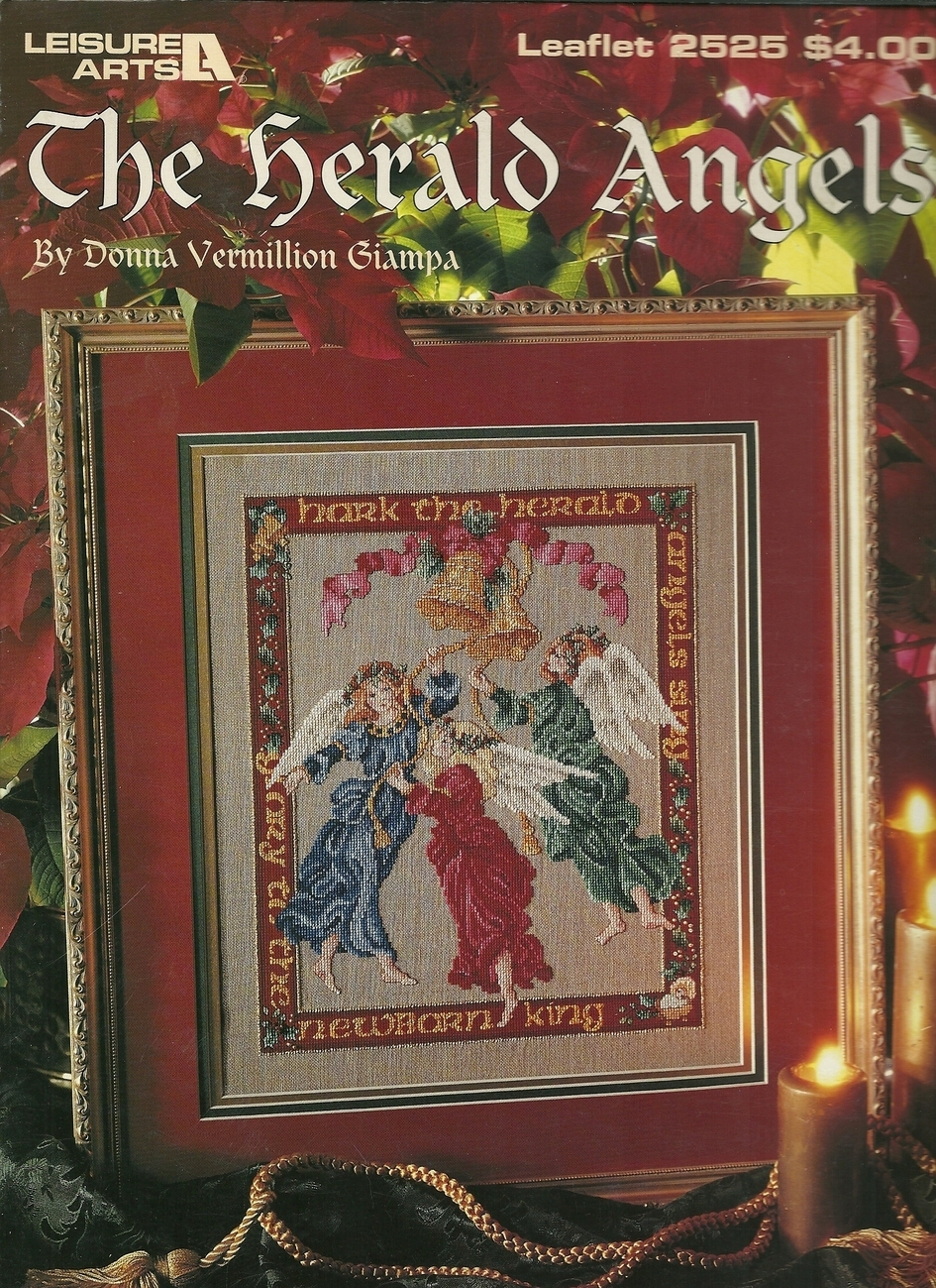 Herald Angels Cross Stitch Pattern Leaflet 2525 Leisure Arts