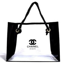 Chanel Beaute Makeup Cosmetic Tote Bag Clear Plastic  - $39.99