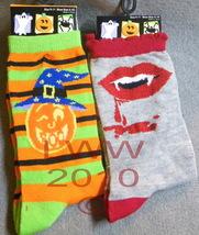2 pair Vampire Jack-o-lantern Halloween Ladies Socks - $5.99