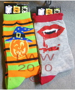 2 pair Vampire Jack-o-lantern Halloween Ladies ... - $5.99
