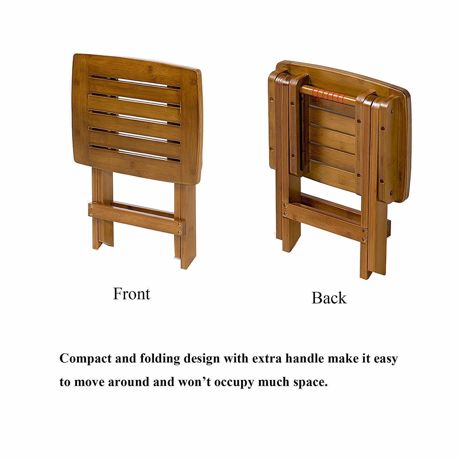 ETECHMART Folding Bamboo Shower Bench 18 and 10 similar items
