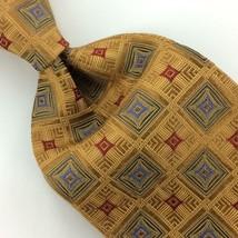 Robert Talbott Best Of Class Geometric Gold Red Heavy Necktie Silk Ties ... - $29.69