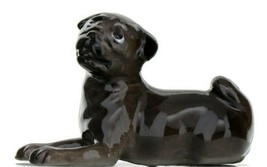 Hagen Renaker Dog Pug Baby Black Ceramic Figurine