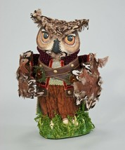 "Katherine's Collection owl tree topper or tabletop Woodland 13"" retired - $143.55"