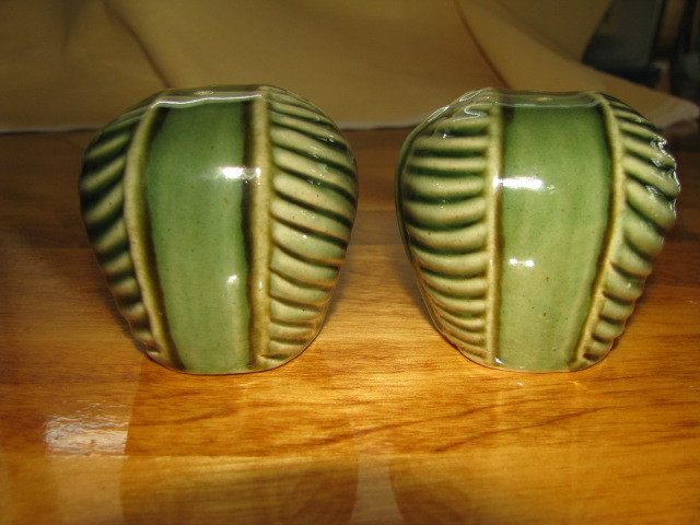 New Green Bali Salt and Pepper Shakers