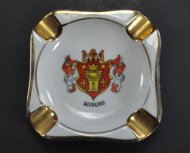 Plankenhammer BitBurg Germany Square Ashtray Coat of Arms
