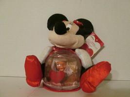 "Disney's Minnie Mouse Valentine's 7"" figural photo snowglobe. - $10.00"