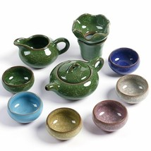 Celadon Exquisite Ceramic Chnia Bouns Tea Set Kung Fu Teaset Teapot  Gaiwan - $31.67+