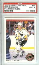 mario lemieux  penguins 1992 o pee chee psa 9 star performers - $9.99