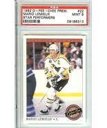 mario lemieux  penguins 1992 o pee chee psa 9 star performers - $9.99