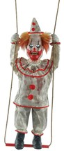 HALLOWEEN ANIMATED SWINGING EVIL CLOWN PROP DECORATION HAUNTED HOUSE CEM... - $129.99