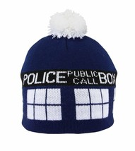 Doctor Who Tardis Image Knitted Pom Beanie Hat BBC LICENSED NEW UNWORN - $7.84