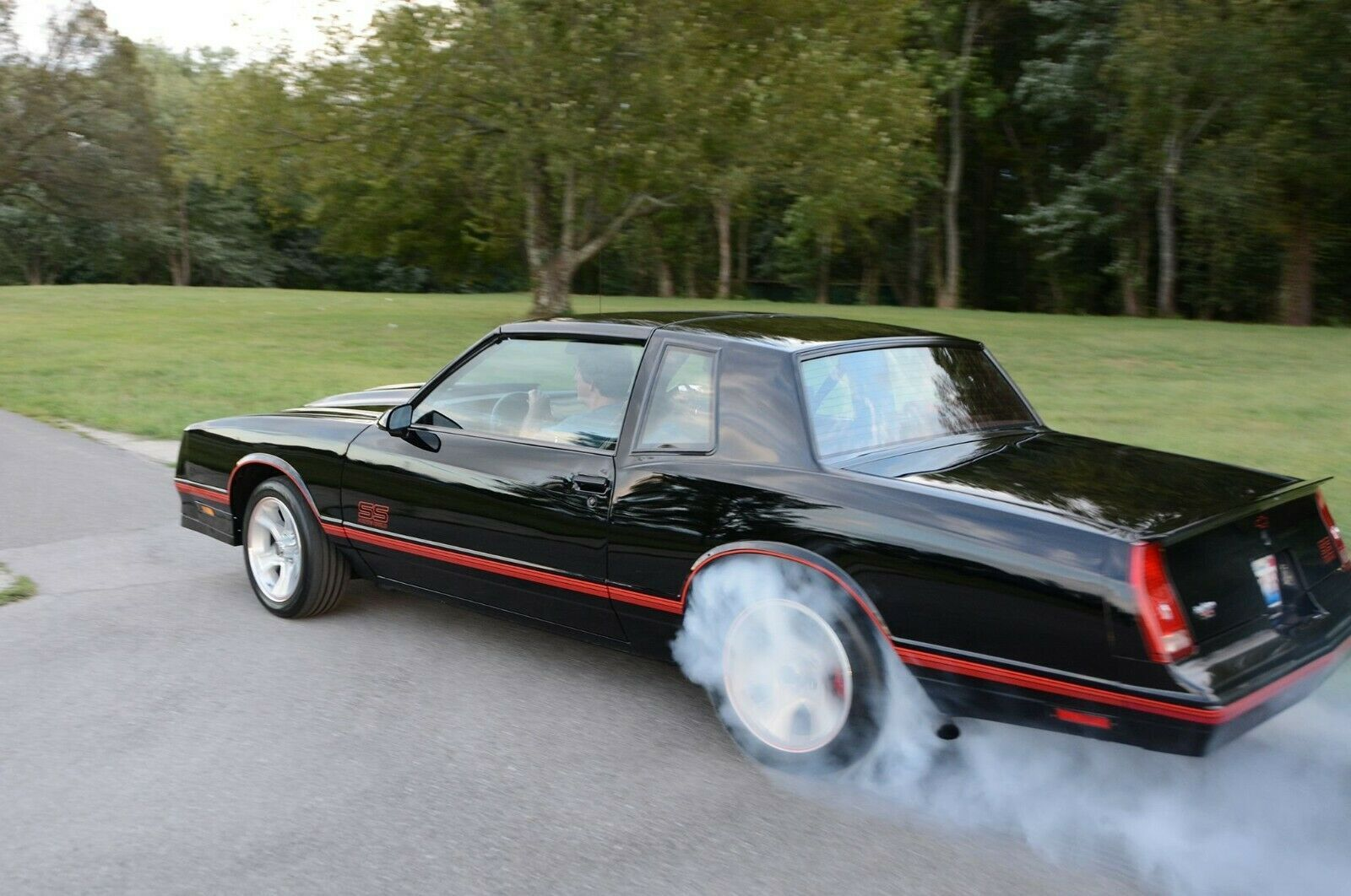 Primary image for 1988 Chevy Monte Carlo SS burnout | 24X36 inch poster | Great looking!