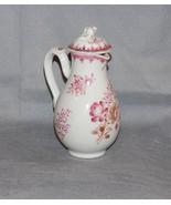 Chinese Export Porcelain Covered Milk Jug Puce Gilt Floral Sprays Antique - $395.00