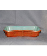 Chinese Qianlong Porcelain Coral Ground Gilt Decorated Turquoise Interio... - $12,500.00