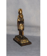 Reproduction Bronzed Metal Statue of an Egyptian Pharaoh - $50.00