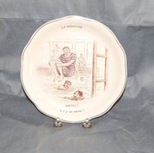French J & G Luniville Pottery Plate  Swimming - $50.00
