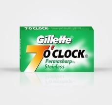 Gillette 7 O'clock PERMASHARP100 Pc Stainless Razor Blades Fast Worldwide - $8.12